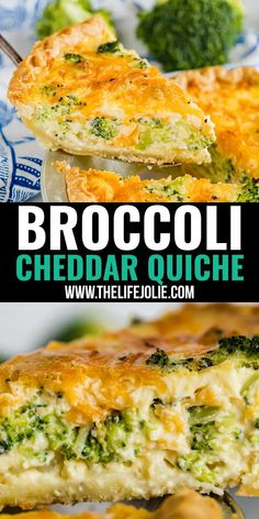 Meet your new go-to quiche recipe: Broccoli Cheddar Quiche. It's quick and easy to make with delicious flavor and creamy texture with ender chunks of broccoli. Breakfast (or lunch) never tasted so good! Ham And Broccoli Quiche, Vegetable Quiche, Vegetarian Quiche, Vegetarian Recipes, Healthy Recipes, Brunch Recipes, Breakfast Recipes, Dinner Recipes, Brunch Ideas