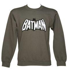 Men's Grey #Retro #Batman Wings Logo #DC #Comics #Sweater xoxo