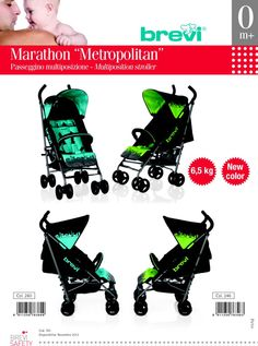 """The collection of strollers Marathon 2013 is enriched with two new colors """"Metropolitan"""".  The Marathon stroller weighs only 6.5 kg and the backrest reclines to several positions until sleeping position.  The approval 0M + strollers """"Metropolitan"""" is a feature that will be shared by the existing models in the colors of new production (2013)."""