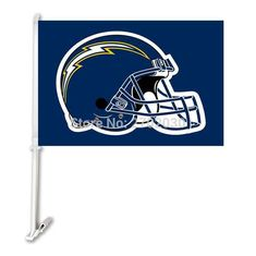 San Diego Chargers Double Sided Car Product Car Polyester Flag Banner 30x45cm With 50cm Plastic Flag Pole