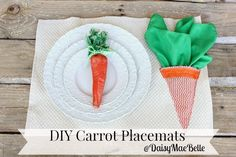 Carrot Easter Craft Ideas - Make placemats for Easter.