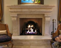 Cantera Fireplaces by Cantera Creations