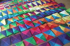 Alexandra Kingswell - finding new pattern by exploring the beauty of colour, number, sequence and proportion through the medium of fabric. My Father's House, Scrappy Quilts, Color Schemes, Fabric, Pattern, Modern, R Color Palette, Tejido, Trendy Tree