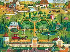 """""""Uncle Jack's Topiary Tendencies""""-Charles Wysocki (108 pieces)"""