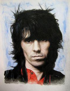 Keith Richards by Susie-K.deviantart.com on @DeviantArt