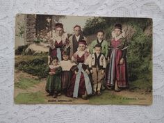 Everything Is Fine, Etsy Shipping, Small Flowers, Toulouse, Postcard Size, Traditional Outfits, French Antiques, Folk Art, Art Nouveau