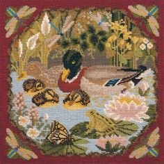 Duck Pond from the Natural History collection. #elizabethbradley #needlepoint