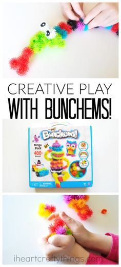 There is an endless amount of creative possibilities with Bunchems. They encourage creative play and work on fine motor and critical thinking skills. #Bunchems #CG AD