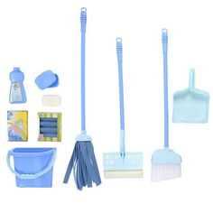 Just Like Home Deluxe Cleaning Set - Pink *** Read more reviews of the product by visiting the link on the image.