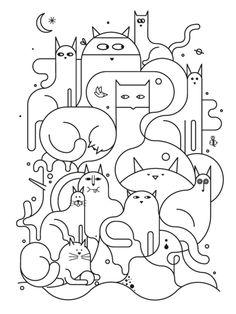 cat art http://www.kittyinny.com/