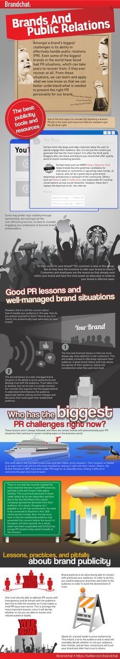 Brands and Public Relations #infografia #infographic #marketing