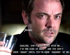 Crowley Oh how I love Mark Sheppard! His voice makes me go weak in the knees.