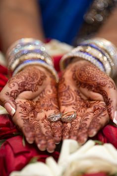 Henna with wedding rings | Indian Wedding | kansas city wedding photographer | anthem photography