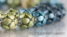 Berries necklace with PRECIOSA Pinch beads - look at the colorways!