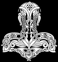 Norse and Viking Leather Art Bone Jewelry and Drinking Horns by Wodenswolf: Thor's Hammer 2012 Norse Tattoo, Celtic Tattoos, Viking Tattoos, Warrior Tattoos, 3d Tattoos, Sleeve Tattoos, Viking Designs, Celtic Designs, Thors Hammer