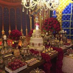 Quinceanera Party Planning – 5 Secrets For Having The Best Mexican Birthday Party Beauty And The Beast Wedding Theme, Beauty And Beast Birthday, Disney Beauty And The Beast, Wedding Beauty, Dream Wedding, Quinceanera Decorations, Quinceanera Themes, Quinceanera Planning, Quince Decorations