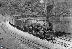 Pennsylvania RR #4595 Baldwin 2-10-0 Class I1 Decapod  Negotiates Horseshoe Curve near Altoona, Pennsylvania