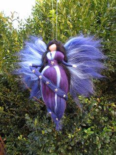 Items similar to Set of 2 needle Felted Wool fairies: DAY & NIGHT, Waldorf inspired fairy doll on Etsy Felt Fairy, Baby Fairy, Needle Felted, Wet Felting, Fairy Templates, Felt Angel, Fairy Clothes, Fairy Jewelry, Wool Felt