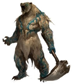 *Guunter, human, druid. Currently trapped in his animal form as a mystic war bear. Member of the renegade elite team *King's Steel.