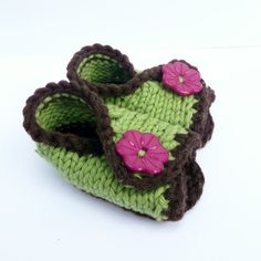 Knitting PATTERN BABY BOOTIES Shoes Slippers Baby di ceradka