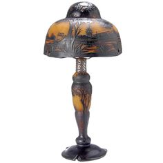Daum Frères, Nancy, Table Lamp, around 1905 | 1stdibs.com