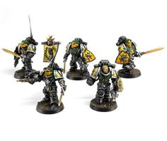 IMPERIAL FISTS LEGION TEMPLAR BRETHREN UPGRADE SET. WOuld probably have to get the 'templar' iconography off to be able to use it now - might help to read up on their rules and find out what happened to them, whether they still exist in some form on the Phalanx. Nice heads.