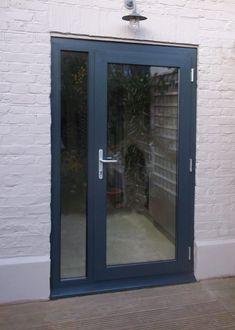 Ideas For Single Patio Door Curtains Aluminium Front Door, Aluminium French Doors, Interior Sliding French Doors, Glass French Doors, French Doors Patio, Glass Front Door, Sliding Glass Door, Glass Doors, Sliding Windows