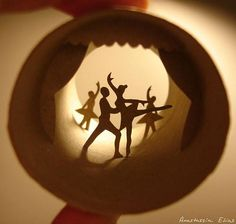 Ballerinas / Toilet Paper Roll Art by Anastassia Elias Art Ballet, Ballet Dance, Toilet Paper Roll Art, Cardboard Sculpture, Shadow Box Art, Ways To Recycle, Patch Quilt, Oeuvre D'art, Les Oeuvres