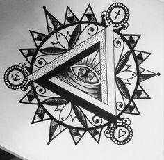 illuminati tattoo + mandala