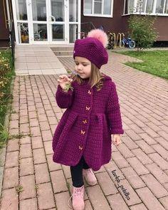 Crochet Baby Sweater Pattern, Baby Sweater Patterns, Knit Cardigan Pattern, Crochet Cozy, Lace Knitting Patterns, Knitted Baby Outfits, Knitted Hats Kids, Crochet Baby Clothes, Crochet Baby Shoes
