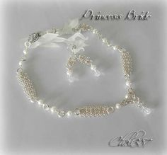 Bridal mesh sterling silver necklace and earrings set | Cheli - Jewelry on ArtFire