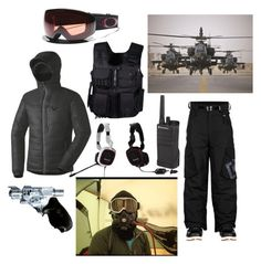 """""""Joanna-Zugspitze"""" by dragonflamegirl ❤ liked on Polyvore featuring Swat, Dynafit, Oakley and Motorola"""
