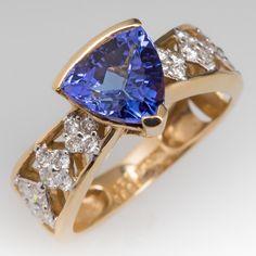 Stephanie Occipinti Tanzanite Ring Gold with Diamonds Tanzanite Jewelry, Tanzanite Ring, Gemstone Jewelry, Jewelry Rings, Jewelery, Fine Jewelry, Diamond Bracelets, Diamond Jewelry, Fashion Rings