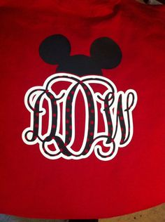 Disney Monogram Shirts
