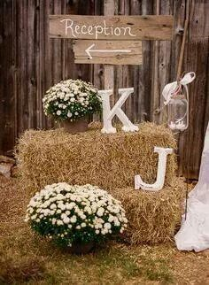 for outside entrance - maybe use baby's breath and cotton?