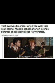 Stupid Muggle schools
