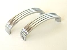 Art Deco Cupboard Handle Pulls Chrome Cabinet Hardware Architectural Salvage I am offering two vintage chrome kitchen cabinet hardware, for