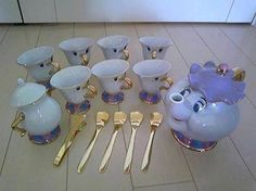 I would buy a white tea set and paint it without the faces :D THIS IS MAKING ME SO EXCITED