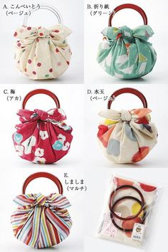 ) Strawberry bag cotton Furoshiki Easy to redo, with a fabric (?) Furoshiki cotton bag cm) and ring set Furoshiki Bag, Furoshiki Wrapping, Wooden Handle Bag, Japanese Wrapping, Handbag Tutorial, Japanese Knot Bag, Origami Bag, Diy Sac, Fabric Bags