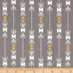 Riley Blake Four Corners Gold Sparkle Stripe Gray from @fabricdotcom  Designed by Riley Blake, this cotton print fabric is perfect for quilts, home décor accents, craft projects and apparel. Colors include grey, white and metallic gold.