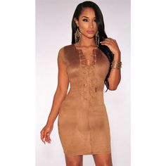Lead your way into the night with edgy chic vibes in this dropship Mocha Faux Suede Crisscross Neck Mini Dress. Sexy Dresses, Cheap Club Dresses, Blue Dresses, Casual Dresses, Short Dresses, Fashion Dresses, Fitted Dresses, Night Outfits, Sexy Outfits