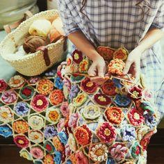 Gorgeous flower blanket