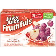 Juicy Juice Fruitifuls Punch Splash Juice Beverage, 6.75 fl oz, 6 count