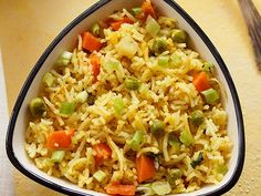 Veg Masala Fried Rice Recipe with stepwise photos. This Indian Style Veg Masala Fried Rice is an indian version of the popular veg fried rice. you can make this dish with freshly made rice or even leftover rice. Cooked Rice Recipes, Leftover Rice Recipes, Basmati Rice Recipes, Recipe Collection, Yummy Food, Snacks, Dishes