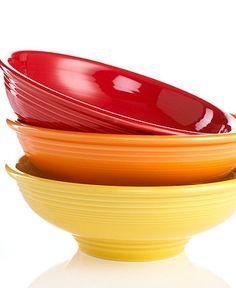 Fiesta Ware pedestal bowl in ivory from Macy's