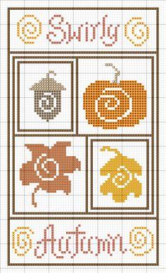 Ribbonwood Cottage: Fall hama perler beads pattern