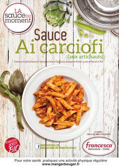 Sauce Ai Carciofi - #Sauce #Artichaut  A découvrir dès le mois de mai en restaurants