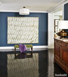 Entry walls are in California Paints' Volute for contrast.