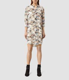 Womens Avalon Dash Dress (Chalk White) - product_image_alt_text_1