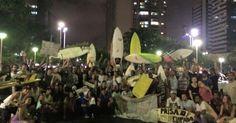 Surfistas protestam em Vitória por causa de lama no Rio Doce e mar